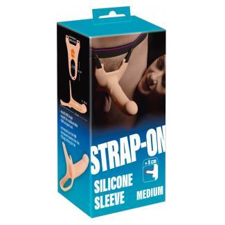 You2Toys Silicone Strap-on Medium - pripínacie duté dildo (strednej veľkosti) - telová farba-1