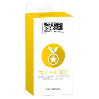 Secura Test the Best - výber kondómovs (24ks)-1