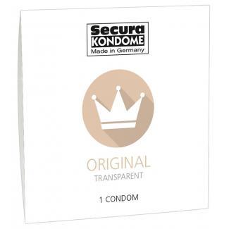 Secura Original - priehľadný kondóm (1ks)-1