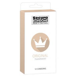 Secura Original - priehľadné kondómy (12 ks)-1