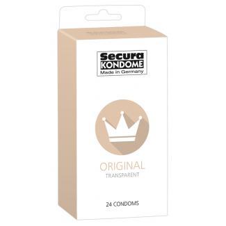 Secura Original - priehľadné kondómy (24 ks)-1