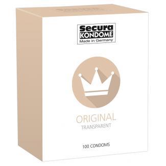Secura Original - priehľadné kondómy (100ks)-1