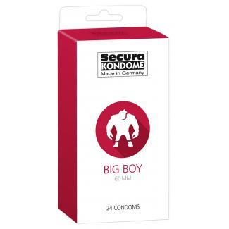 Secura Big Boy - 60 mm kondómy (24 ks)-1