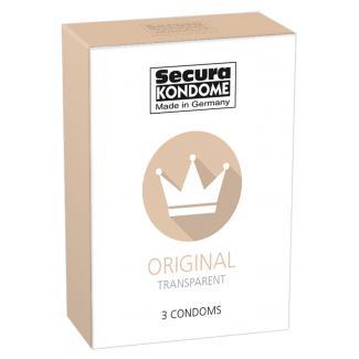 Secura Original - priehľadné kondómy (3ks)-1