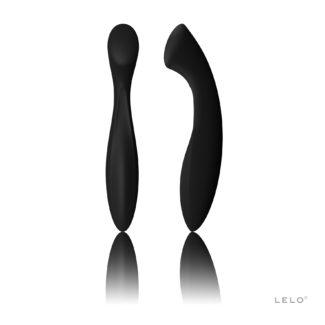 LELO Ella - dildo s dvoma končekmi (čierne)-1