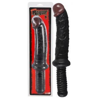 Rogue - dildo s rukoväťou (čierne)-1