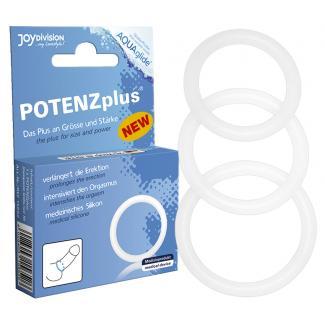 Joydivision Potenz Plus - krúžky na penis (3 dielna sada)-1