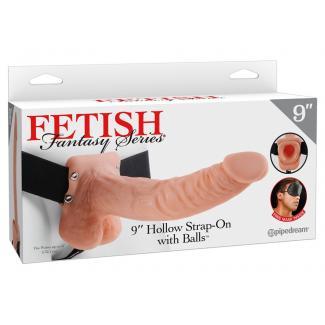 Fetish Strap-on 9 - pripínacie dildo (telová farba)-1