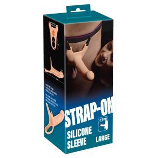 You2Toys Silicone Strap-on - pripínacie duté dildo (veľké) - telová farba-1