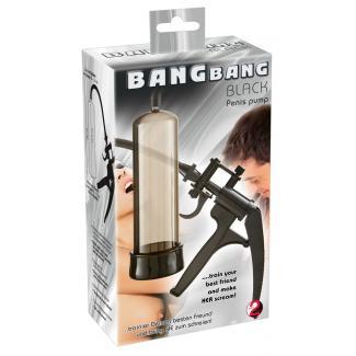 You2Toys Bang Bang - nožnicová pumpa na penis (čierna)-1