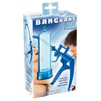 You2Toys Bang Bang - nožnicová pumpa na penis (modrá)-1
