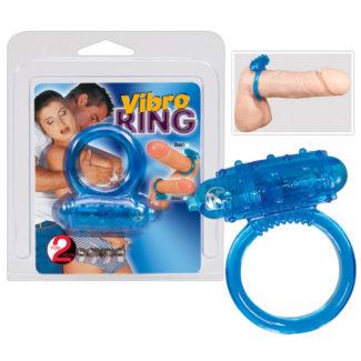 You2Toys Vibro ring - silikónový vibračný krúžok na penis - modrý-1