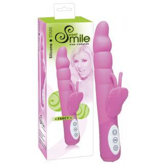 Sweet Smile Fancy - vibrátor s ramenom na klitoris ružovej farby-1