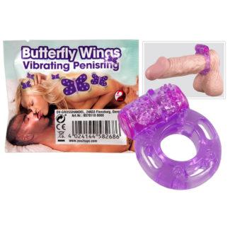 You2Toys Butterfly Wings - vibračný krúžok na penis jednorázový-1