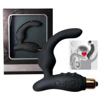Rock Off O Boy 7 - vibrátor na prostatu (čierny)-1