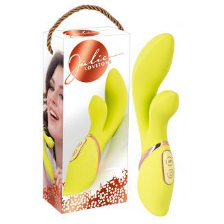You2Toys Jülie Clit Stimulator - vibrátor na stimuláciu klitorisu (žlto-zelený)-1