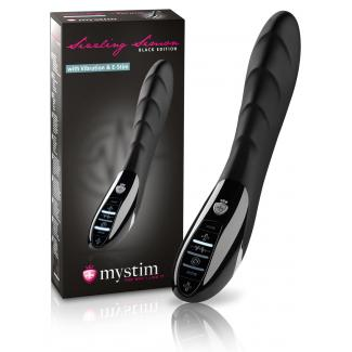 mystim Black Edition Sizzling Simon - elektro-stimulačný vibrátor-1
