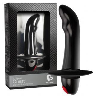 Rocks Off Quest - vibrátor na prostatu pre začiatočníkov s 10 rytmami (čierny)-1
