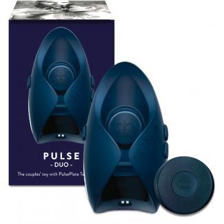 HOT Octopuss Pleasure Pulse III Duo – vibrátor na penis (sivo-modrý)-1