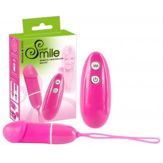 Smile Bullet - vibračné vajíčko na diaľkové ovládanie (ružové)-1