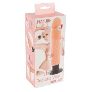 Nature Skin Realistic Vibe L – veľký realistický vibrátor s prísavkou (telová farba)-1