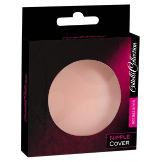 Cottelli Nipple Cover - náplasť na bradavky v tvare krúžku (telová farba) - 2ks-1