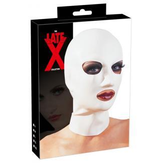 LATEX - klasická maska na hlavu (biela)-1
