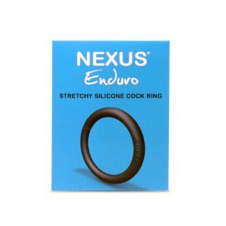 Nexus Enduro - silikónový krúžok na penis (čierny)-1