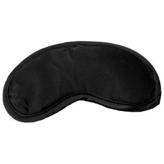 S&M Satin Black Blinfold – saténová maska na oči (čierna)-1