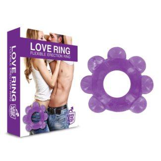 Love in the Pocket Love Ring - krúžok na penis s guličkami (fialový)-1