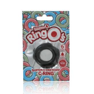 Screaming O RingO´s – silikónový krúžok na penis (čierny)-1