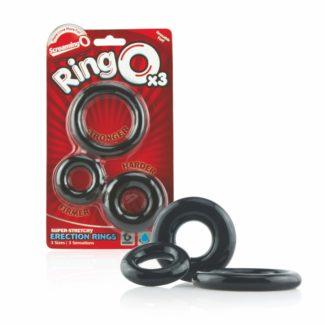 Screaming O - súprava silikónových krúžkov na penis (3ks)-1