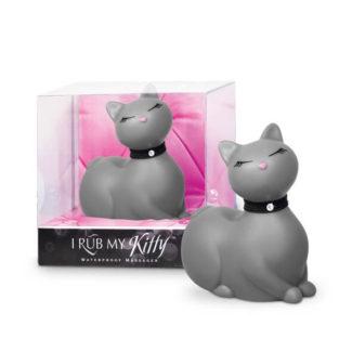 I Rub My Kitty - pradúca mačička - vibrátor na klitoris (sivý)-1