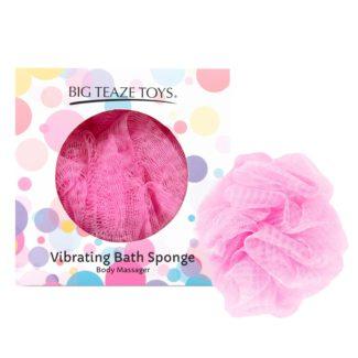 Big Teaze Toys - sprchová hubka s vibrátorom (ružová)-1