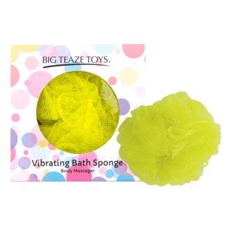 Big Teaze Toys - sprchová hubka s vibrátorom (žltá)-1