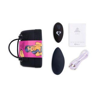 FEELZTOYS Panty – nabíjací vibrátor na klitoris s diaľkovým ovládaním (čierne)-1