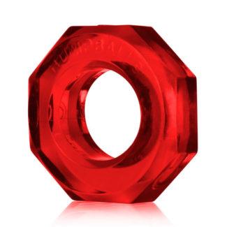OXBALLS Humpballs - extra silný krúžok na penis (červený)-1